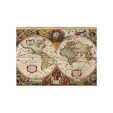 World Map 1630 5'x7'Area Rug