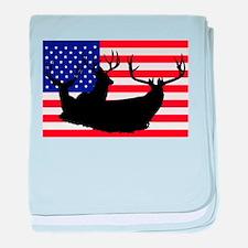Patriotic hunter baby blanket
