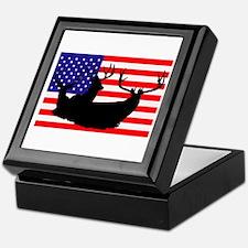 Patriotic hunter Keepsake Box