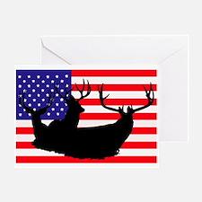 Patriotic hunter Greeting Card