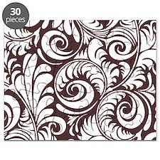 Umber & White Swirls Puzzle