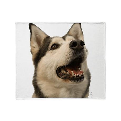 The Alaskan Husky Throw Blanket