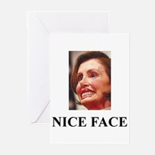 Nancy Pelosi - Nice Face Greeting Cards (Package o