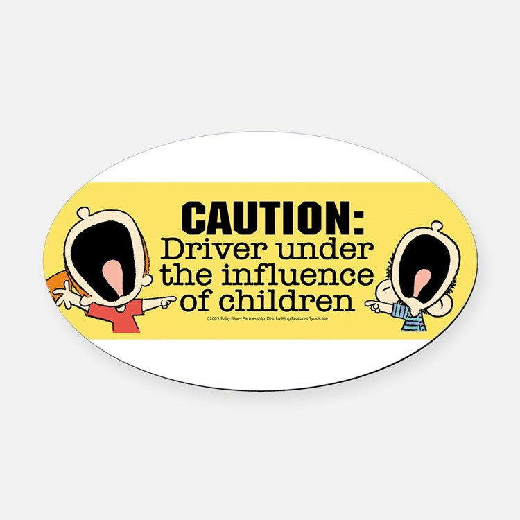 Cute Baby blues Oval Car Magnet