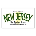 New Jersey Rectangle Sticker