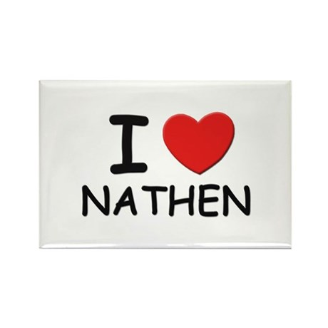 I love Nathen Rectangle Magnet