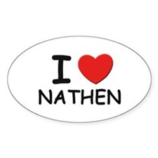 I love Nathen Oval Decal