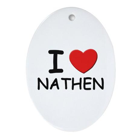 I love Nathen Oval Ornament