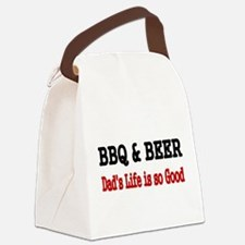 BBQ BEER Canvas Lunch Bag
