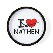 I love Nathen Wall Clock