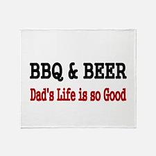 BBQ BEER Throw Blanket