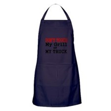 DONT TOUCH MY GRILL OR MY TRUCK Apron (dark)