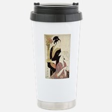September - Utamaro Kitagawa - c1800 - woodcut Travel Mug
