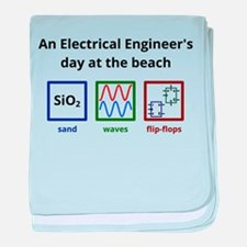 An Electrical Engineers day at the beach baby blan