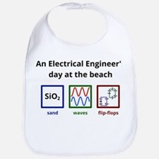 An Electrical Engineers day at the beach Bib