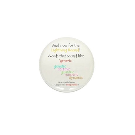 Can you say 'generic'? Mini Button (10 pack)