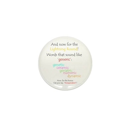 Can you say 'generic'? Mini Button (100 pack)