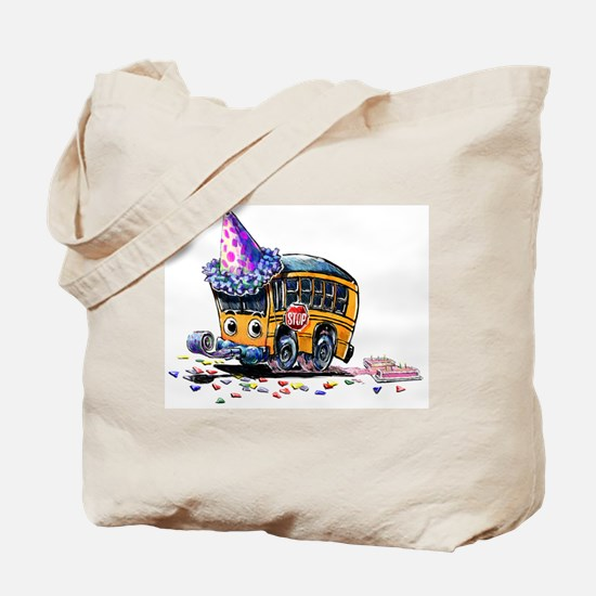Party Bus Tote Bag