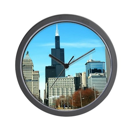 Chicago View of Sear's Tower Wall Clock