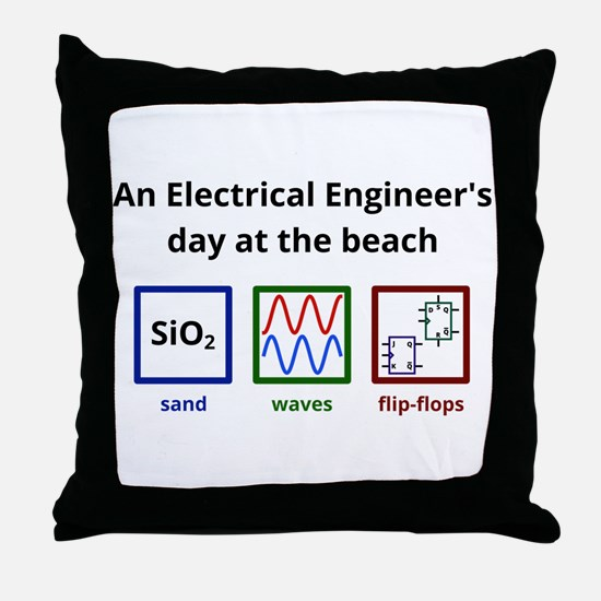 An Electrical Engineers day at the beach Throw Pil