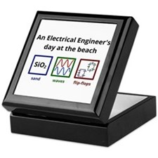 An Electrical Engineers day at the beach Keepsake