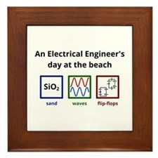 An Electrical Engineers day at the beach Framed Ti