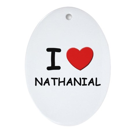I love Nathanial Oval Ornament