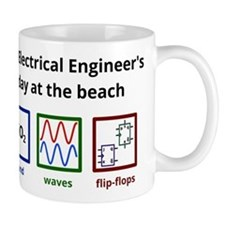 An Electrical Engineer's day at the beach Small Mugs