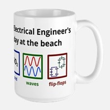 An Electrical Engineer's day at the beach Mug