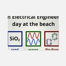 An Electrical Engineer's day at the beach Rectangl