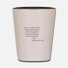 Deuteronomy 22.28 Shot Glass