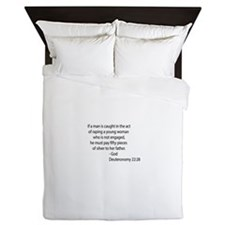Deuteronomy 22.28 Queen Duvet