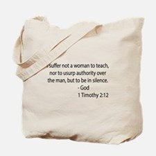 1Timothy 2:12 Tote Bag