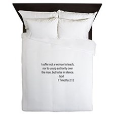 1Timothy 2:12 Queen Duvet