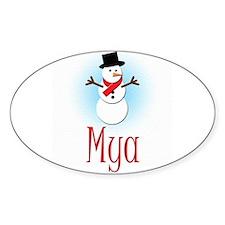 Snowman - Mya Oval Decal