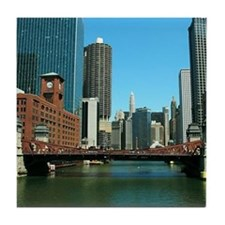 Chicago Waterfront Tile Coaster