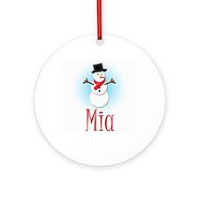 Snowman - Mia Ornament (Round)