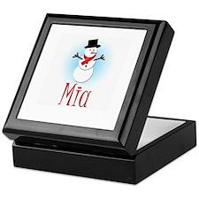 Snowman - Mia Keepsake Box