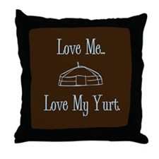 Cute Yert Throw Pillow