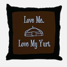 Cool Yert Throw Pillow