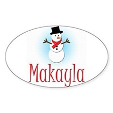 Snowman - Makayla Oval Decal