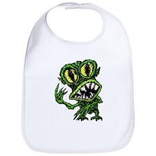 Green alien monster Bib