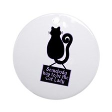 Cat Lady Ornament (Round)