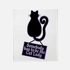 Cat Lady Throw Blanket
