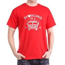 My Heart Belongs to a Fireman T-Shirt