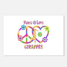 Peace Love Giraffes Postcards (Package of 8)