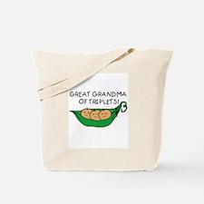 Great Grandma of Triplets Tote Bag