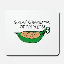 Great Grandma of Triplets Mousepad