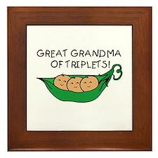 Great Grandma of Triplets Framed Tile