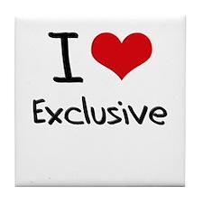 I love Exclusive Tile Coaster